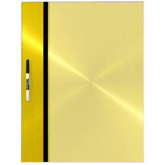 Cool Gold Shiny Stainless Steel Metal Dry Erase Board