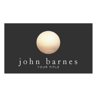 Cool Gold Sphere Minimalistic Black Business Card