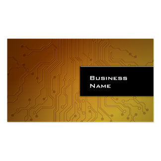 Cool Gold Technology Texture business card