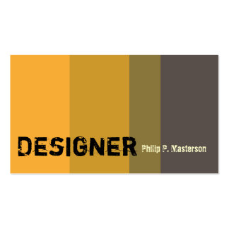 Cool Golden  Color Masculine Designer Architecture Double-Sided Standard Business Cards (Pack Of 100)