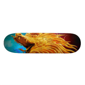 Cool Golden Dragon colourful Thailand background Skateboard Deck