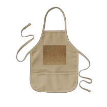 Cool Golden Glitter Chevron Pattern Kids' Apron