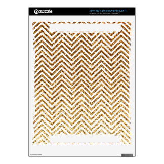 Cool Golden Glitter Chevron Pattern Skin For The Xbox 360