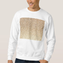 Cool Golden Glitter Chevron Pattern Sweatshirt