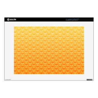 "Cool golden honeycomb vector pattern skin for 15"" laptop"