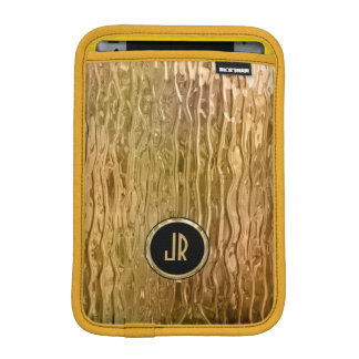 Cool Golden Tones Abstract Melting Stained Glass iPad Mini Sleeves