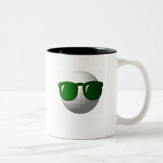 Cool Golf Ball Design Coffee Cup Two-Tone Coffee Mug
