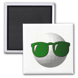 Cool Golf Ball Design Magnet
