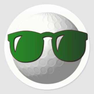 Cool Golf Ball Design Sticker
