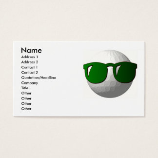 Cool Golf Ball on Business Card