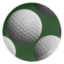 cool golf balls dinner plate