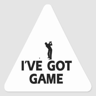 cool golf designs triangle sticker