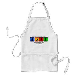 Cool Golf It Is A Way Of Life Adult Apron