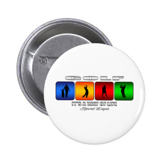 Cool Golf It Is A Way Of Life Pinback Button