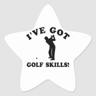 COOL GOLF SKILLS DESIGN STAR STICKER