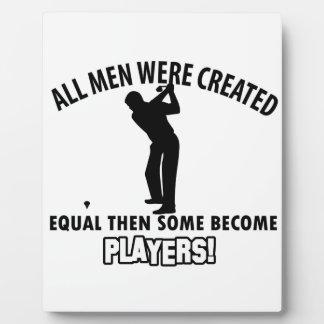 cool golfer player design plaque