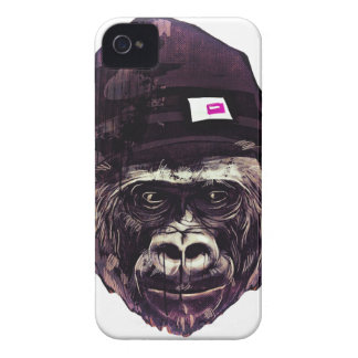 Cool Gorilla with cap iPhone 4 Cover