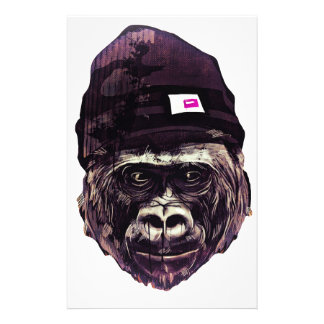 Cool Gorilla with cap Stationery