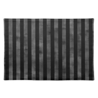 Cool goth punk grungy black and gray dark stripes placemat