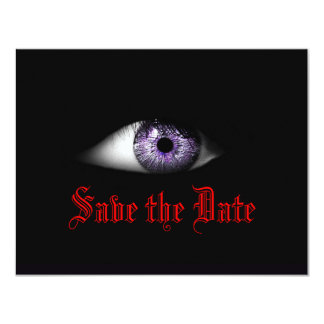Cool Gothic Wedding Save the Date Goth Bride Dark Card
