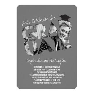Cool Graduate Cutout Graduation Photo Party Invite
