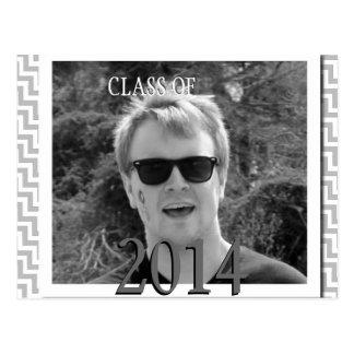 Cool Graduation Announcement for Black and White Post Cards