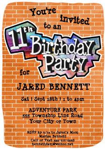 11th birthday invitations zazzle