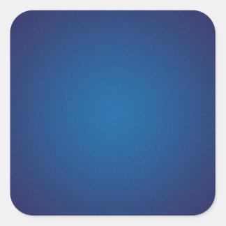 Cool Grainy Deep Blue Vignette Square Sticker