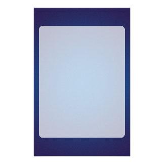 Cool Grainy Deep Blue Vignette Stationery