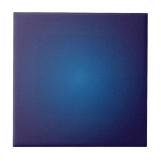 Cool Grainy Deep Blue Vignette Tile