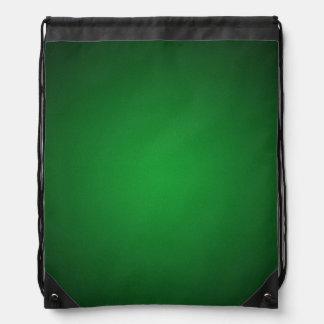 Cool Grainy Green-Black Vignette Drawstring Bag
