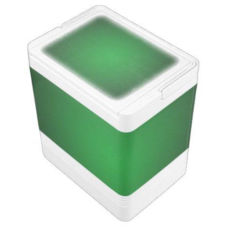 Cool Grainy Green-Black Vignette Drink Cooler