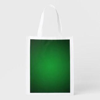 Cool Grainy Green-Black Vignette Reusable Grocery Bag