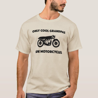 cool grandpas ride motorcycles t-shirt grandfather