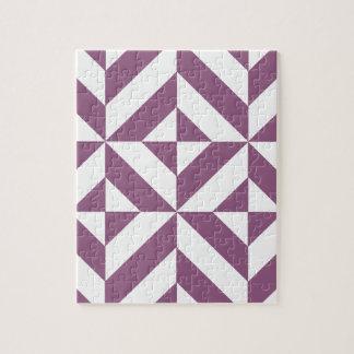Cool Grape Geometric Deco Cube Pattern Puzzle