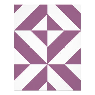 Cool Grape Geometric Deco Cube Scrapbook Paper