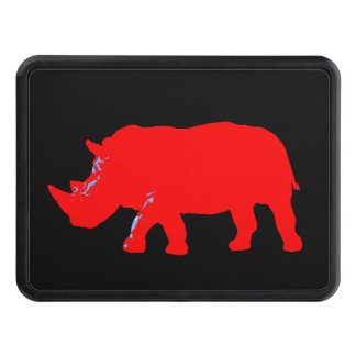 cool graphic rhino trailer hitch cover