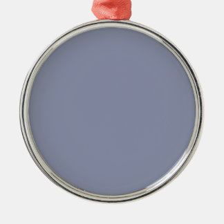 Cool Gray Premium Round Ornament