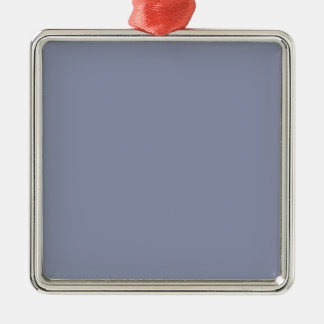 Cool Gray Premium Square Ornament