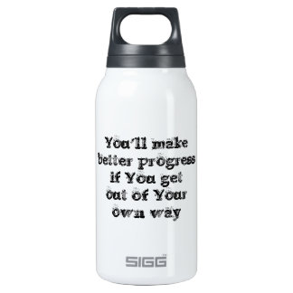 Cool great simple wisdom philosophy tao sentence 10 oz insulated SIGG thermos water bottle