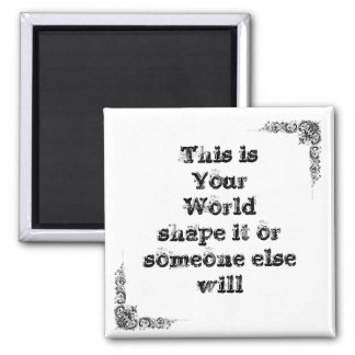 Cool great simple wisdom philosophy tao sentence 2 inch square magnet