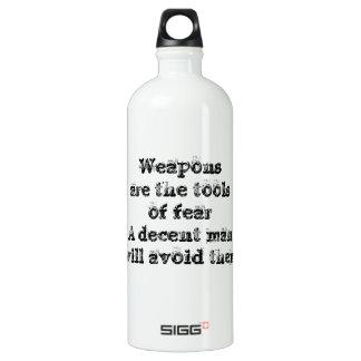 Cool great simple wisdom philosophy tao sentence aluminum water bottle