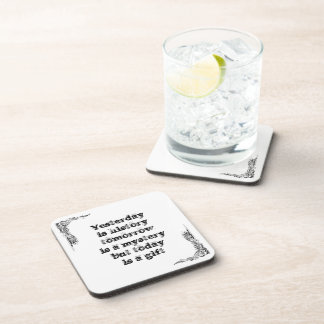 Cool great simple wisdom philosophy tao sentence beverage coaster
