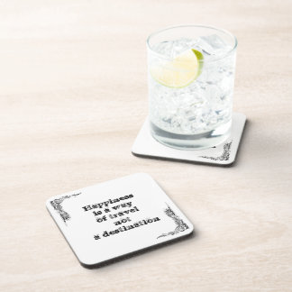 Cool great simple wisdom philosophy tao sentence beverage coaster