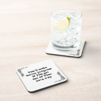Cool great simple wisdom philosophy tao sentence beverage coasters