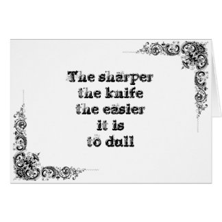Cool great simple wisdom philosophy tao sentence card