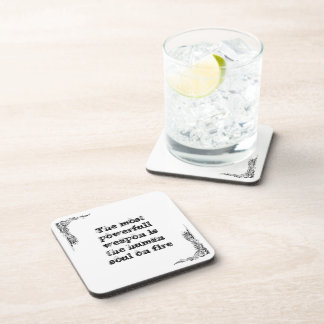 Cool great simple wisdom philosophy tao sentence coaster