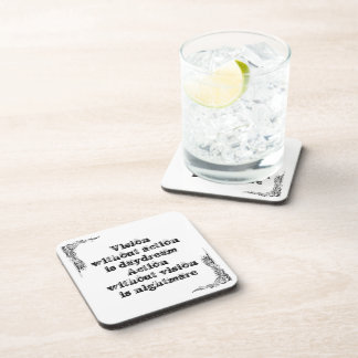 Cool great simple wisdom philosophy tao sentence coasters