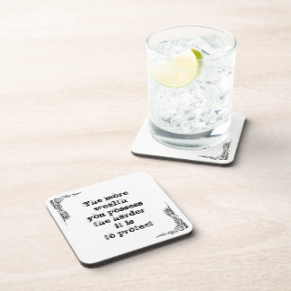 Cool great simple wisdom philosophy tao sentence drink coaster