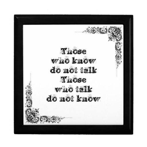 Cool great simple wisdom philosophy tao sentence jewelry box